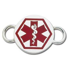Medic Alert Convertible Clasp in Sterling Silver https://www.goldinart.com/shop/convertible-clasp-bracelets/medic-alert #ConvertibleClasps, #MedicalJewelry, #SterlingSilver