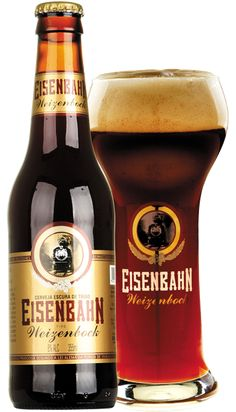 Love the caramel amber color of this beer. -- Eisenbahn Weizenbock