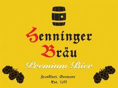 Henninger Brau, branding design.  http://jasonsicklerdesigner.com/henninger.html
