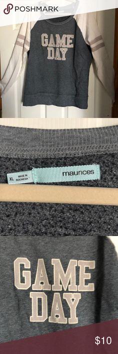 Game day sweatshirt Long bodied scoop neck medium wear Maurices Tops Sweatshirts & Hoodies