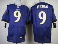Nike Baltimore Ravens #9 Justin Tucker 2013 Purple Elite Jersey