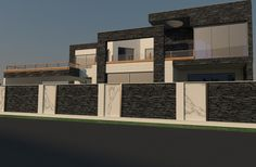 Rustik Boundry Wall Home Design Exterior on