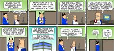 Dilbert's Pointy-Headed Boss has his head in the #cloud