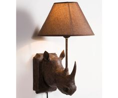 $149.84 Rhino Wall Light Ok, if I were rich, I'd buy this for a hoot! I just had to Pin it so others could enjoy it too.