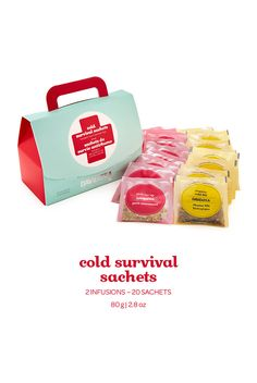 Cold 911 and Cold Zing, pre-packed in convenient sachets.