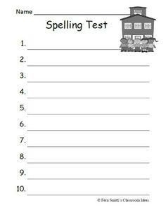 248 FREE Spelling Worksheets