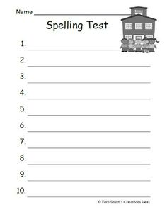 Printables Spelling Test Worksheets spelling test worksheet davezan spelling