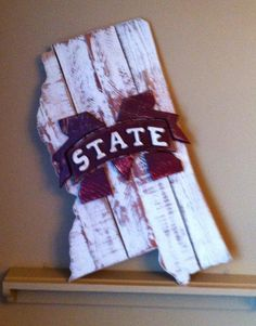 Mississippi state sign with Mississippi State by BentwoodCustoms
