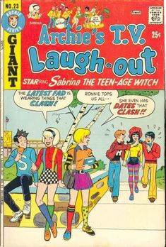 Archie's TV Laugh Out # 23 strict FN- appearance Sabrina Archie Comics Characters, Archie Comic Books, Old Comic Books, Vintage Comic Books, Comic Book Characters, Vintage Comics, Comic Character, Jughead Comics, Dc Comics