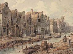 Amsterdam, Goudsbloemgracht 1850, nu Willemsstraat.