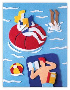 Reading in summer / Lectura en verano (ilustración de Jacopo Rosati)