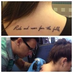 "Equestrian tattoo -  ""ride and never fear the fall"""