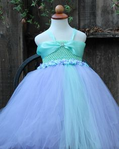 Mint Lavender Tutu Dress for little girls by BloomsNBugs on Etsy, $80.00