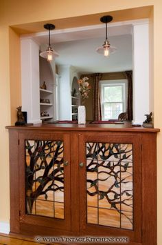 Craftsman style leaded glass