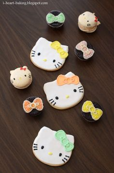 Hello Kitty Macarons For A Wedding Dessert Table Oh My