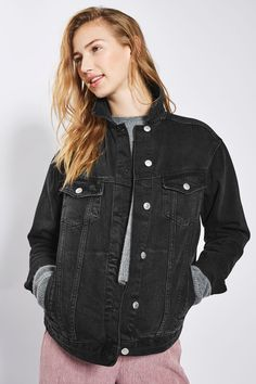 MOTO Seam Oversized Jacket - Denim - Clothing - Topshop
