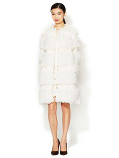 Faux Mongolian Fur Coat by Anna Sui at Gilt