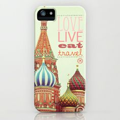 Love, Live, Eat, Travel iPhone & iPod Case by Happeemonkee - $35.00