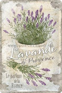 Nostalgic-Art 22200 Home & Country - Lavande de Provence, Blechschild cm Decoupage Vintage, Decoupage Paper, Vintage Diy, Vintage Labels, Vintage Ephemera, Vintage Cards, Vintage Paper, Vintage Postcards, Images Vintage