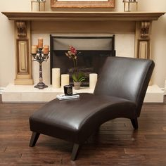 Finlay Leather Chaise Lounge by Christopher Knight Home ($205) ❤ liked on Polyvore featuring home, furniture, chairs, accent chairs, brown, leather occasional chairs, brown leather chair, brown leather chaise lounge chair, leather furniture and leather chaise lounge