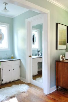 Bathroom Mirror Door interior doors mirror.pocket door. fancy!! | la maison | pinterest