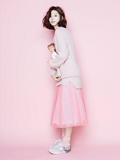 Park Soo Jin - may 2015 inspiration Pink Fashion, Asian Fashion, Women's Fashion, Fashion Ideas, Asian Woman, Asian Girl, Soo Jin, Mode Inspiration, Kpop