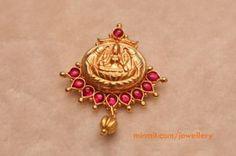 lakshmi pendant studded with rubies