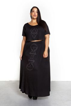 Domino Dollhouse - Plus Size Clothing: Alchemy Crop Top