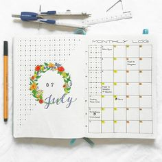 Cute monthly log.