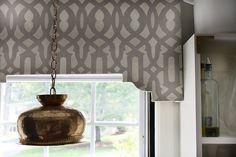the HUNTED INTERIOR: DIY Stenciled Cornice Board