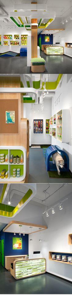 My Fluffy Friend's Pet Shop Design by MCM Interiors, Canada http://www.myfluffyfriends.com