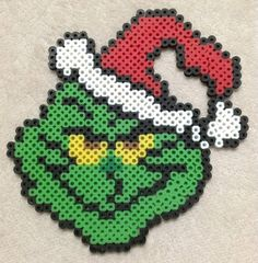 Grinch Perler Bead Art by EightBitEvolution on Etsy, $5.00