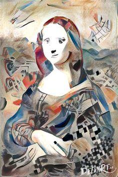 Mona Lisa Kandinski style