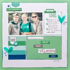 Goals scrapbook layout by Kay Rogers for Elle's Studio