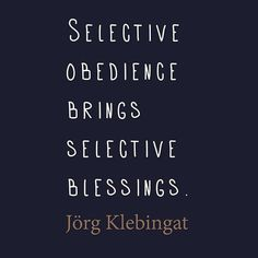 Selective obedience