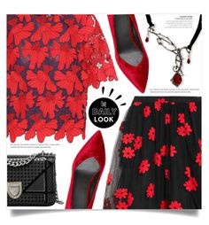 """""""Blood red"""" by dolly-valkyrie ❤ liked on Polyvore featuring Tory Burch, Simone Rocha and Old Navy"""
