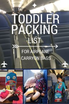 Toddler Packing List for Airplane Carryon Bags - Trips With Tykes