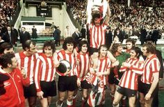 Sunderland raise the FA Cup - the only time I got anywhere near excited about football - 1973