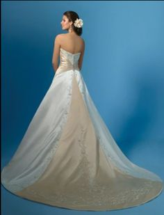 Back side of a beautiful Piccione gown by Alfred Angelo
