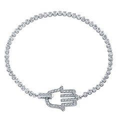 "Victoria Kay 14k White #Gold #Diamond #Hamsa #Bracelet (1.00cttw, IJ, I1-I2), 7"" $1095 http://www.amazon.com/dp/B005DD41AE/ref=cm_sw_r_pi_dp_zWn0wb146XCB7"
