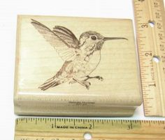DELICATE HUMMER BY MOSTLY ANIMALS 607-S6 Rubber Stamp   #MOSTLYANIMALS #RUBBERSTAMP