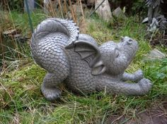 Gartendrache streckt sich Drache Figur Dragon: Amazon.de: Garten