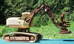Wooden Toy Trucks, Logging Equipment, Wood Toys, Diy Wood Projects, Wood Turning, Tractors, Outdoor Power Equipment, Woodworking, Crafts