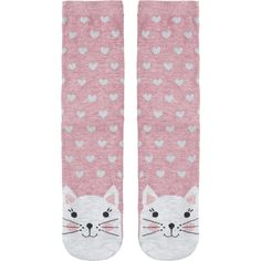 Accessorize Laura Cat Face Socks (€5,92) ❤ liked on Polyvore featuring intimates, hosiery, socks, sparkly socks, sparkly ankle socks, cat socks, ankle socks and short socks