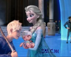Jack Frost and Elsa have a baby...