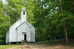 The Missionary Baptist Church in Cades Cove in the Smoky Mountains of East Tennessee.