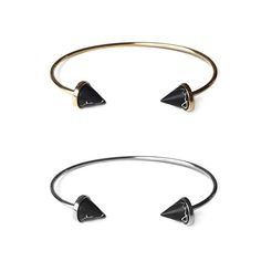 Urban gold & onyx spike cuff, $45