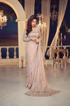 Maria B Couture Latest Fancy Formal Wedding Dresses consisting of beautiful luxury embroidered party & wedding wear suits designs with modern cuts! Desi Wedding Dresses, Pakistani Formal Dresses, Summer Wedding Outfits, Pakistani Wedding Outfits, Pakistani Dress Design, Formal Dresses For Weddings, Bridal Dresses, Formal Wedding, Wedding Ideas