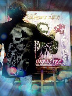 gangstart #spiktri # paradize# picasso # graffitis#street-art#