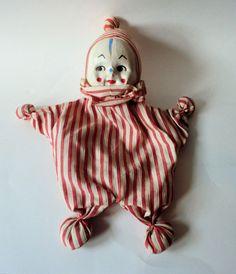 Vintage Clown Hand Puppet